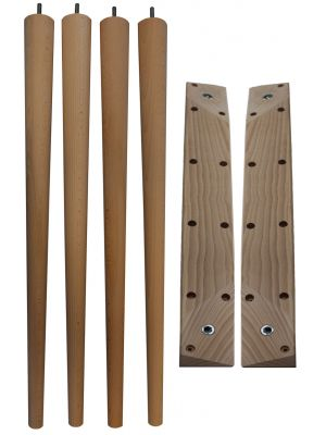 McCobb Table Legs Tall with Angled Table Legs Battens
