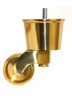 Brass Castor Round Cup Extra Large with Threaded Bolt
