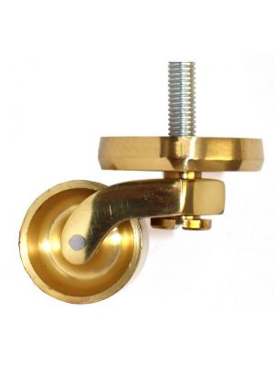 Brass Castor Round Shallow Cup Extra Large with Threaded Bolt