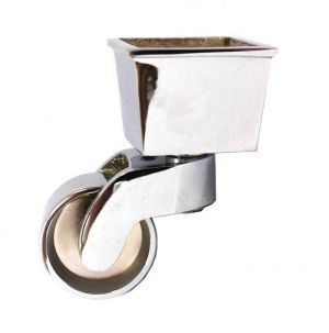 Chrome Castor Square Cup 45mm