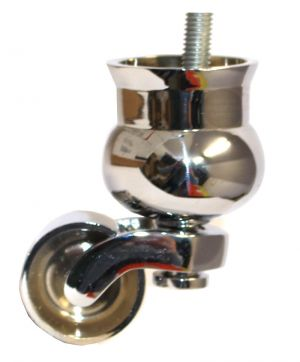 Chrome Cauldron Castor withThreaded Bolt