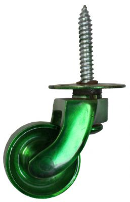 Green Screw Plate Castor 32mm