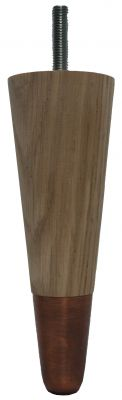 Heather Solid Oak Furniture Legs with Oiled Bronze Slipper Cups
