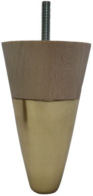 Kaysa Tapered Furniture Legs with Brass Castors