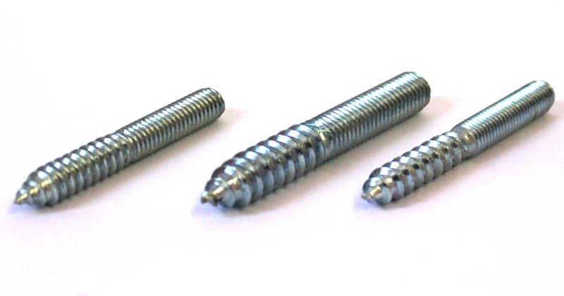 Metal dowel screw fixings